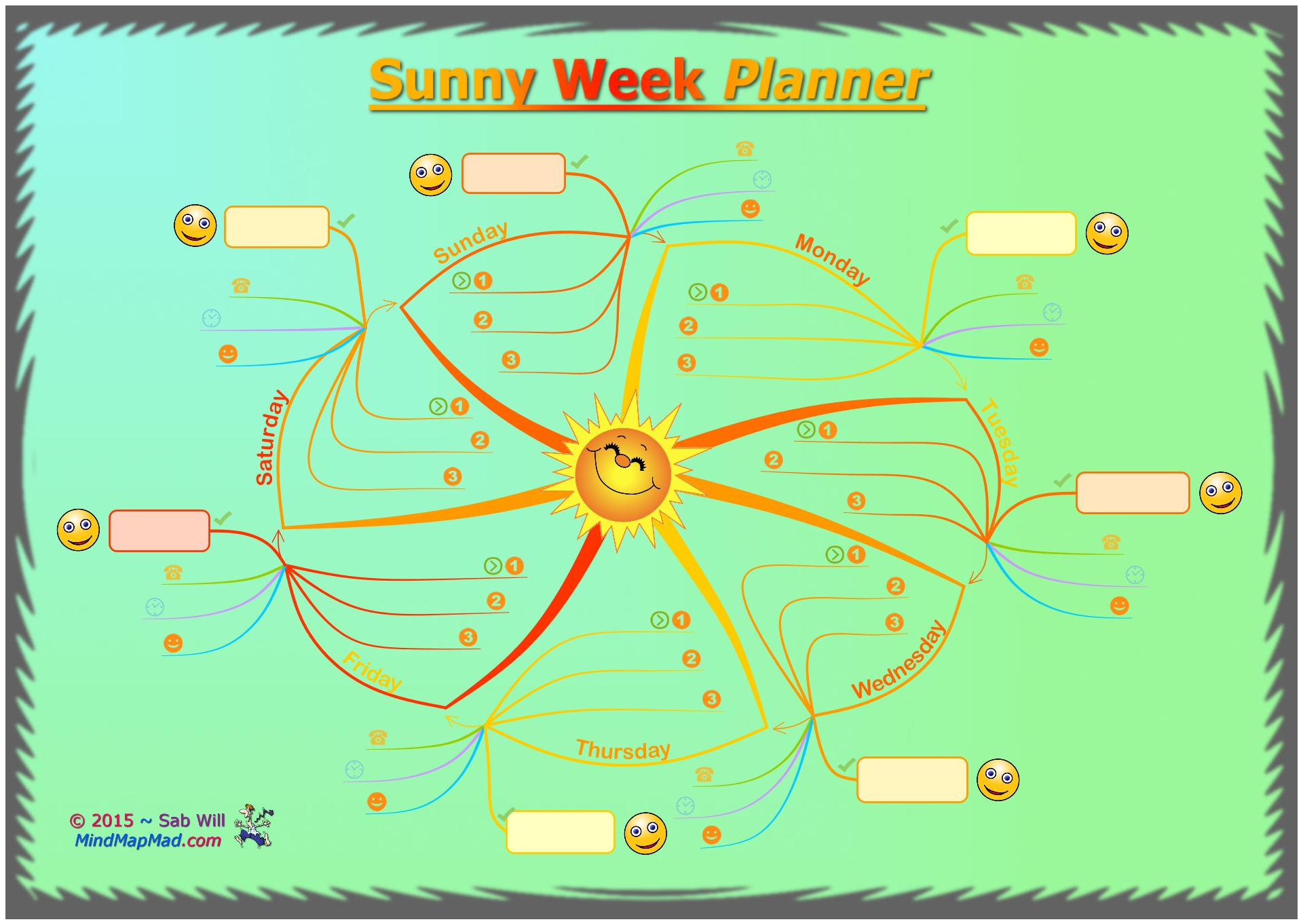 Sunny Weekly Planner