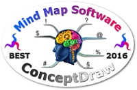 World's Best Mind Mapping Software 2016 Challenge - ConceptDraw mini badge