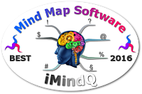 World's Best Mind Mapping Software 2016 Challenge - iMindQ mini badge