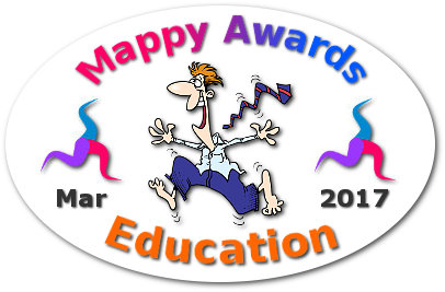 """Mappy Awards March 2017 'EDUCATION' Winner by """"Philippe Packu"""" """"Roman Numerals Mind Map"""""""